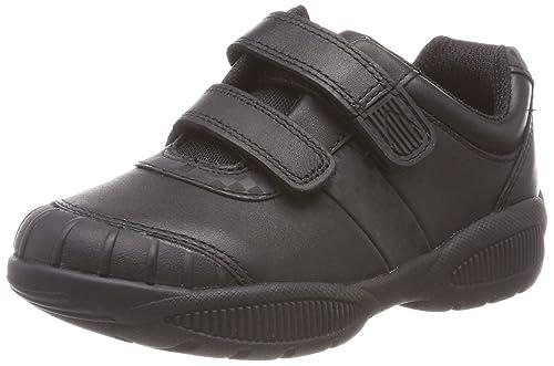 Clarks Jonas GLO, Zapatillas para Niños, Negro (Black Leather), 32 EU