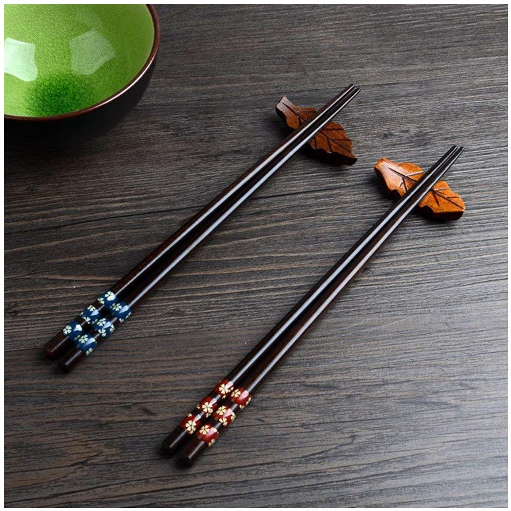 2 Pair Set Chopsticks Japanese Chopsticks Made of Eco-friendly Natural Wooden in a beautiful presentation box – Christian Gift –  Leaptech