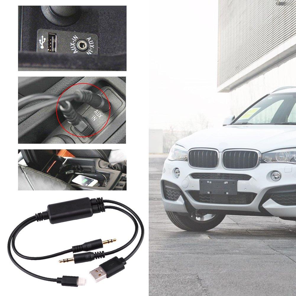 Voiture c/âble USB Adaptateur auxiliaire c/âble dinterface audio de 3,5/mm st/ér/éo connecteur dentr/ée pour BMW Mini Cooper Core pour iPod transfert de donn/ées rapide