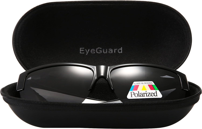 EYEGUARD Fit Over Polarized Lens Cover Sunglasses For Men Wear Over Prescription Glasses