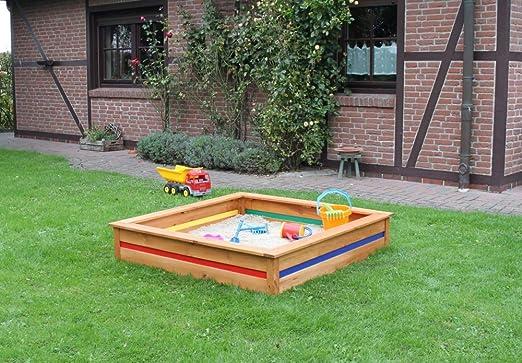 Beauty.Scouts Outdoor Dino Collection Tori - Caja de Arena para niños, 126 x 126 x 25 cm, Color marrón Miel: Amazon.es: Jardín