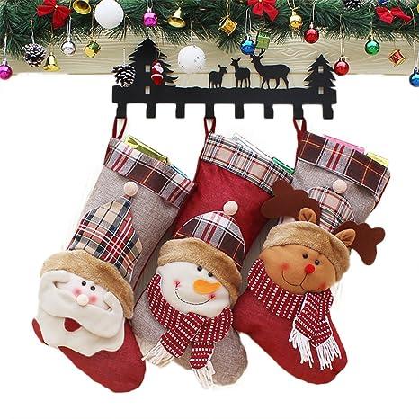 """Juego de medias 3 Sets, 18 """"de largo de Papá Noel calcetines de"""