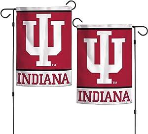 """WinCraft NCAA Indiana Hoosiers 12.5"""" x 18"""" Inch 2-Sided Garden Flag Logo"""