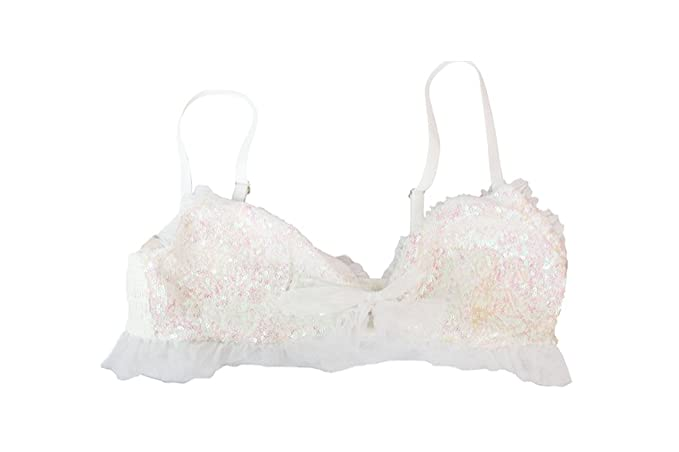 27c19bb6711b77 Image Unavailable. Image not available for. Color  Victoria s Secret White Light  Pink Sequin Bralette ...