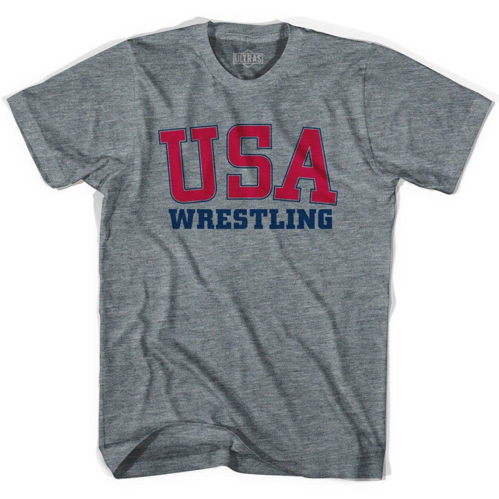 USA Wrestling Ultras Soccer T-shirt, Athletic Grey, Adult X-Large by Ultras