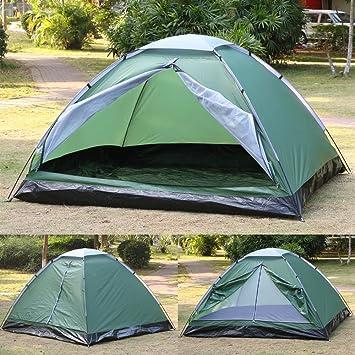 Popamazing 3 4 Person Outdoor Beach TentBeach CanopySun Shelter POP UP