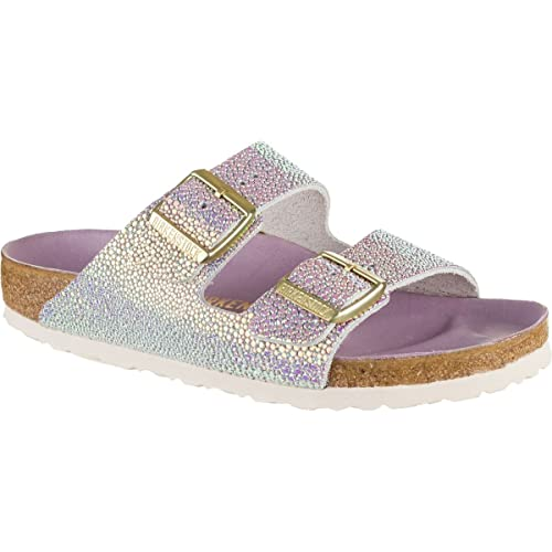 5c4c2e8f195 Birkenstock Womens Arizona Lux Slide Sandal Ombre Pearls Silver Orchid Size  41 N EU (10-10.5 N US Women)  Amazon.ca  Shoes   Handbags