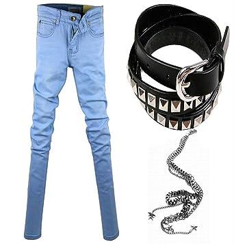 dd12e48a86a Thadensama Hot Selling Mens Korean Designer Black Slim Fit Jeans Punk Cool  Super Skinny Pants With