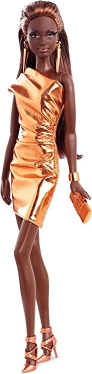 ADD ON Barbie The Look City Shine Red Carpet Doll Silver Clutch Model Muse Purse