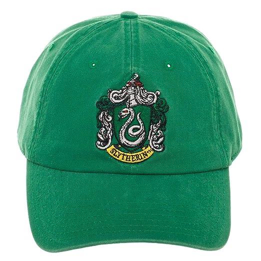 Amazon.com  Harry Potter Slytherin Adjustable Hat Ball Cap  Clothing 8574bf64f698