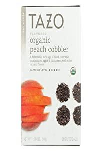 Tazo Organic Black Tea Peach Cobbler 20 Bags, 0.37 Pound