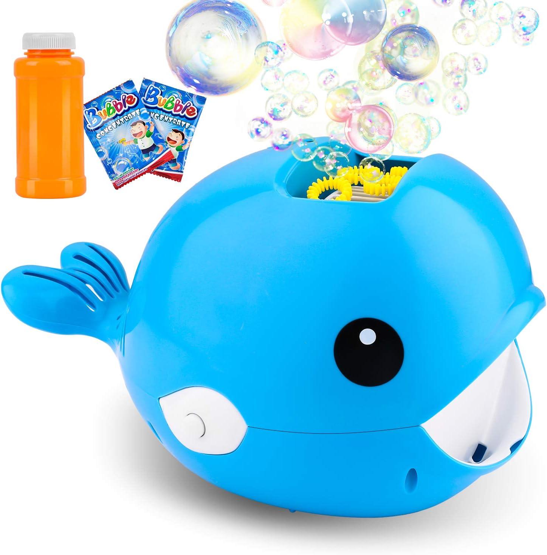 balnore Máquina de Burbujas Portátil, Automatic Maquina Burbujas máquina, soplador de Burbujas Alimentado por batería (batería Not incluida) para niños pequeños, Juguetes Ideales para niños