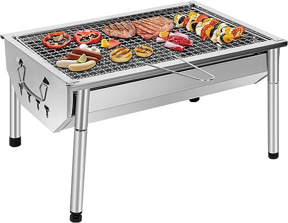 SunJas Barbecue Charbon de Bois BBQ Gril Portable Démontable