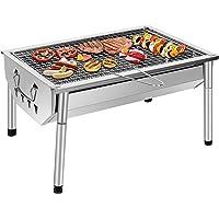 Sunjas Holzkohlegrill Edelstahl Picknick Grill Kleiner Tragbarer Klappgrill Abnehmbare BBQ Grills
