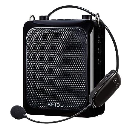 Amplificador de voz inalámbrico portátil (25 W), altavoz amplificado Bluetooth SHIDU 2000mAh Sistemas