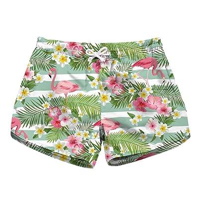 Adelina Damas Y Pantalones De Cortos Secado De Playa Rápido Impresos Moda Completi En 3D Shorts para Mujer Casual Moda Joven Loose Short Summer Short Pant: Ropa y accesorios