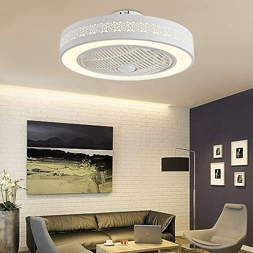 Ceiling Fan LED Light Remote Control Lamp Chandelier Ceiling Fan bladeless Ceiling Fan Dimmable Bedroom Office Modern 110V