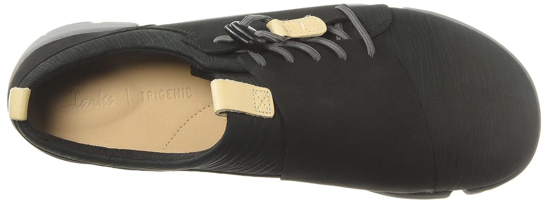 CLARKS B0754KDQS5 Womens Tri Camilla Sneaker B0754KDQS5 CLARKS 6.5 B(M) US|Black Nubuck 498b2c