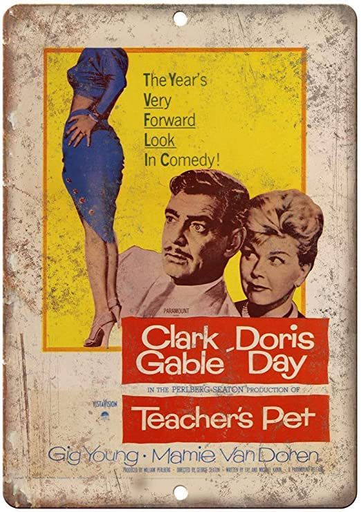SALWON Teachers Pet Movie -Cartel De Chapa Advertencia ...