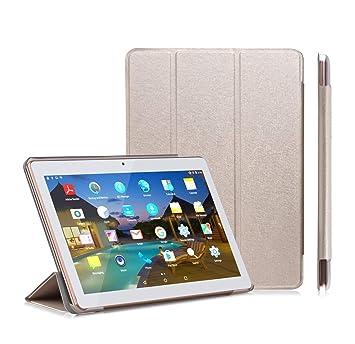 YOTOPT Funda para Tablet 10.1 / BEISTA 10 Pulgadas/Kivors 10.1/Excelvan F888/Excelvan M10K6/LNMBBS 3G 10.1/QIMAOO 10.1, Oro