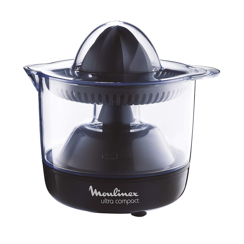 Moulinex PC120870 Exprimidor Compacto con Jarra Transparente Desmontable de 0,45 l, Apto para lavavajillas, 25 W, De plástico