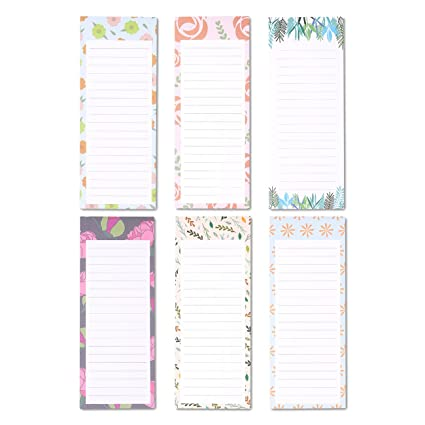 amazon com to do list notepad 6 pack magnetic notepad grocery