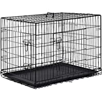 BestPet Pet Wire Cage with Metal Pan