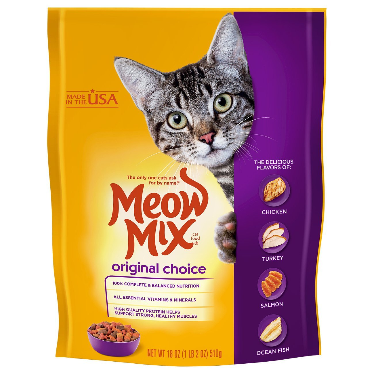 18-Ounce (Pack of 6) Meow Mix Original Dry Cat Food, 18 Oz (Pack Of 6)