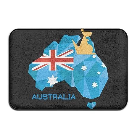 Amazon.com : FRICSTAR Doormats Stralia Flag Map Australia National ...