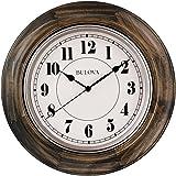 Bulova Albany Wall Clock, Brown