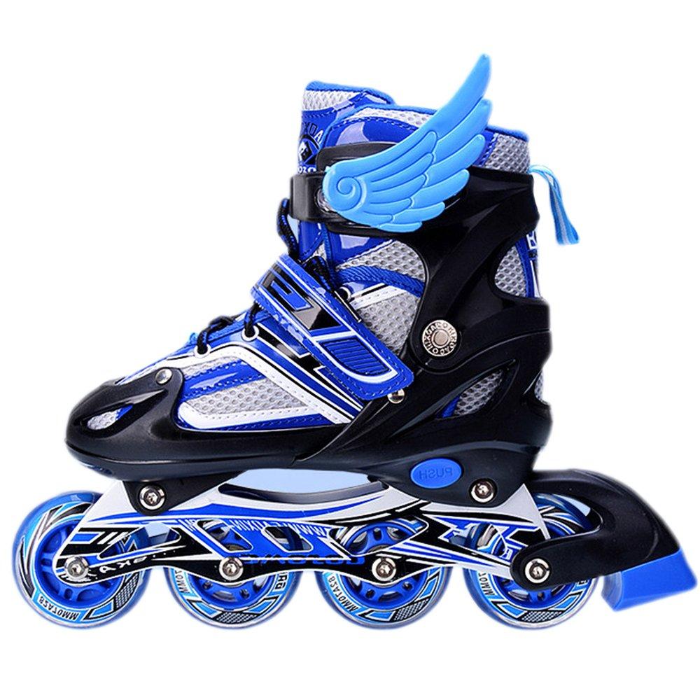 Roller skates blue - Amazon Com Uruoi Unisex Kids Adjustable Glittery Inline Roller Skates Sports Outdoors