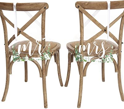 Amazon.com: Letrero de acrílico hecho a mano para sillas de ...