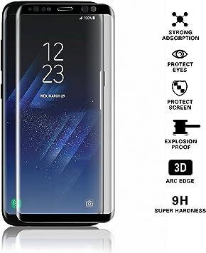 Samsung Galaxy S8 Plus Protector de pantalla, cubierta de pantalla ...