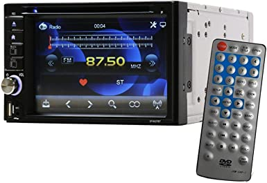 Double-Din Car ST-6527BTN DVD Receiver with Touchscreen Media Player Receiver System – Work with Bluetooth USB SD