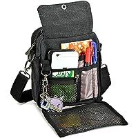 Zicac Men's Small Vintage Multipurpose Canvas Shoulder Bag Messenger Bag Purse
