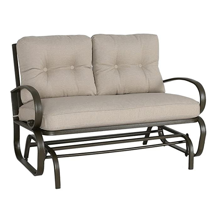 Patio Glider Bench Loveseat – Best Outdoor Loveseat for any Space