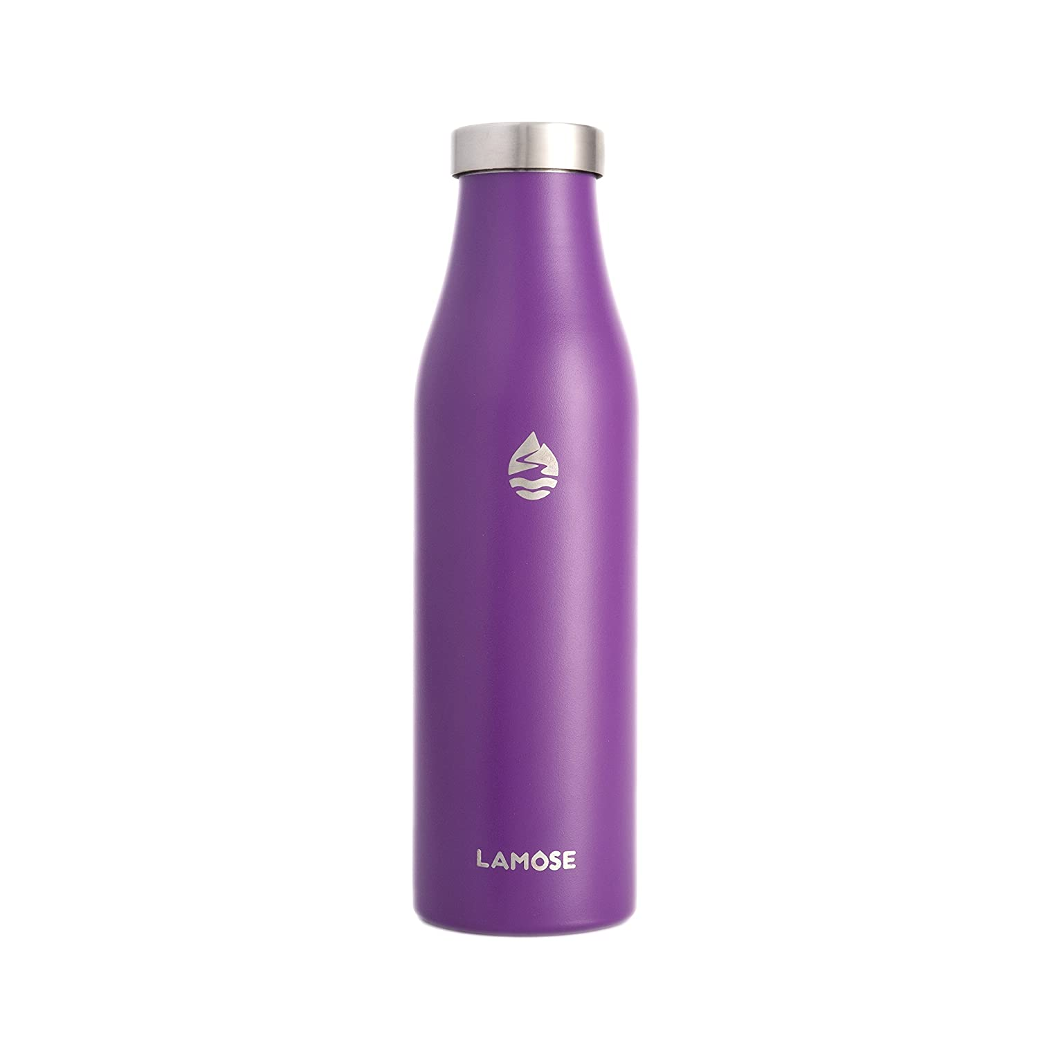 18//8 Kitchen-Grade Stainless Steel 21 oz up to 12 hrs hot or 24 hrs Cold 100/% BPA-Free Healthy Choice LAMOSE Turquoise Double-Wall Vacuum Insulated Sports Water Bottle w//Wide Mouth lids