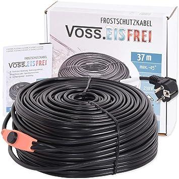 Frostschutz Heizkabel mit Knopf-Thermostat VOSS.eisfrei 230V 1m 2m 4m 8m 12m 14m 18m 24m 37m 49m Heizleitung Zum Schutz von Wasserleitungen und Weidetr/änken