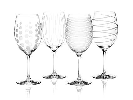 0eb8095b1f8 Mikasa Cheers Crystal Red Wine Glasses, Set of 4