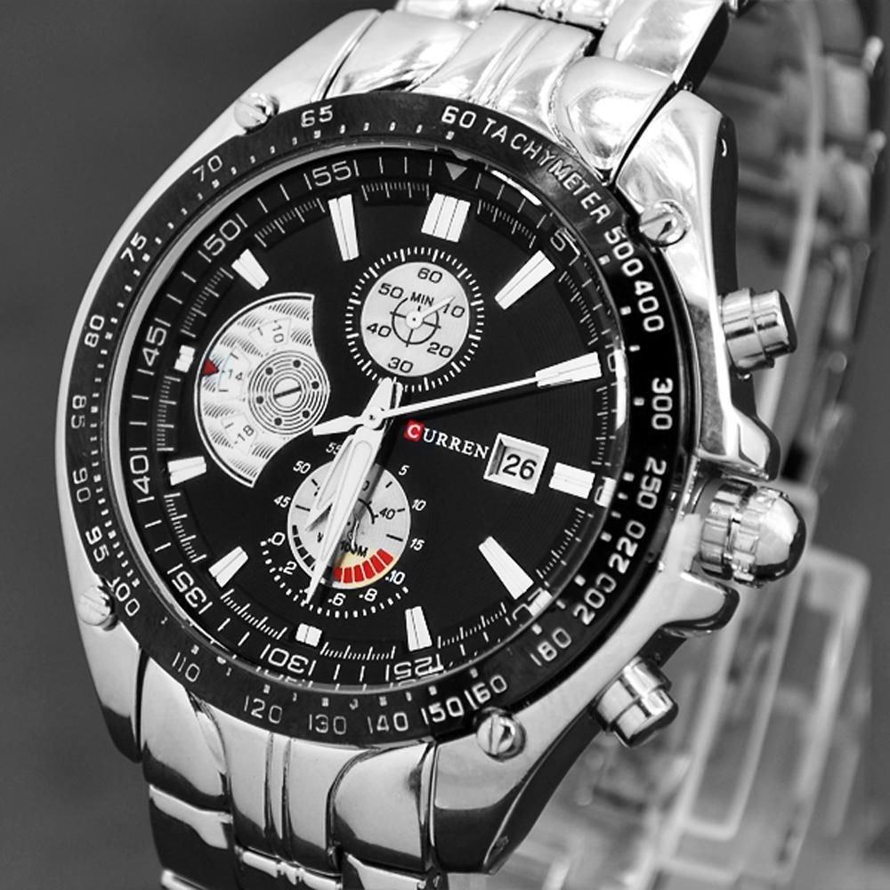 Relojes De Hombre Curren - Relojes Deportivos De Lujo Acero Inoxidable - El Regalo Perfecto - 100% Garantizado