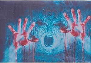ATMOMO Horror Ghost 3D Transparent Car Back Rear Window Decal Vinyl Sticker for Happy Halloween