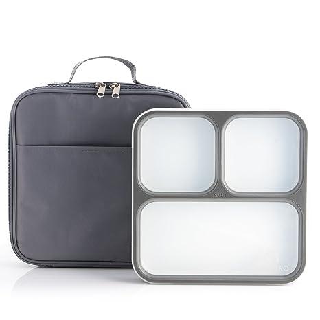 Amazon.com  Modetro Ultra Slim Leak Proof Bento Lunchbox with 3 ... 9367397b1488