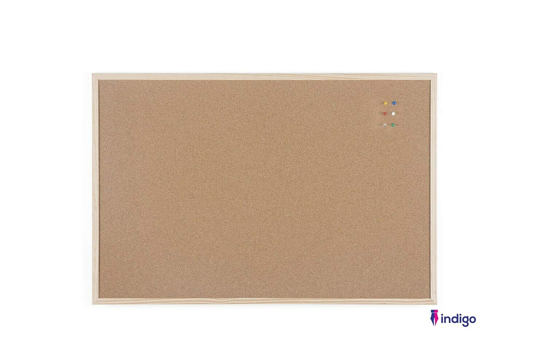 900mm x 600mm Noticeboard Bulletin Wooden Frame Pack of 2 Indigo/® Premium Cork Board