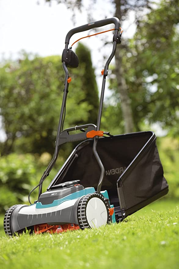 GARDENA 4025-20 - Cortacésped Eléctrico Inalámbrico 380 Li 400 m² , Gris y Azul turquesa: Amazon.es: Bricolaje y herramientas