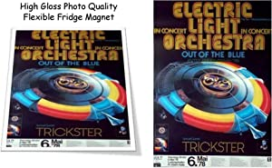 "ELO Electric Light Orchestra 1978 Concert Poster 3""X4"" Flexible Fridge Magnet, High Gloss Photo Finish"