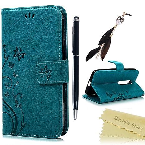 Motorola Moto G3 (3ª Generación) Funda Libro de Cuero Impresión Con Tapa y Cartera,Correa de mano - Maviss Diary Carcasa PU Leather Con TPU Silicona ...