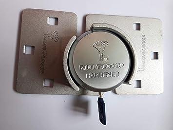 Mul T Lock Tr 100 Hockey Puck Padlock Hasp Wth 2 Keys And Id Card