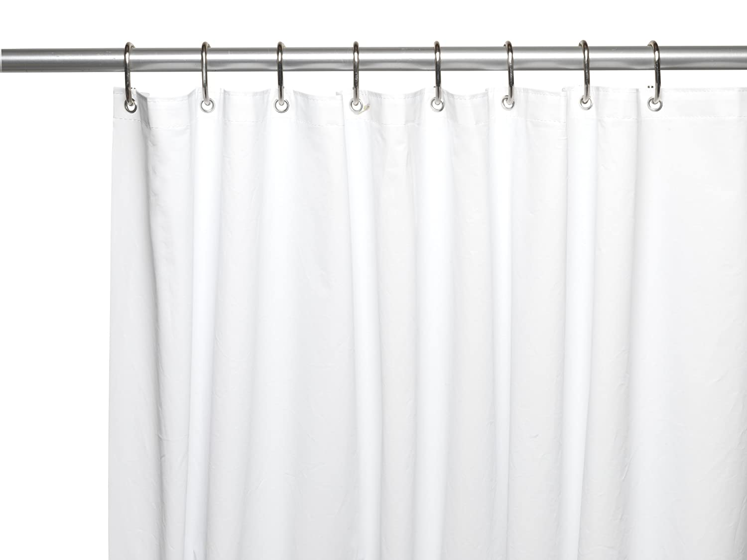 Super Clear X-Long Carnation Home Fashions 10-Gauge PEVA 72 by 84-Inch Shower Curtain Liner