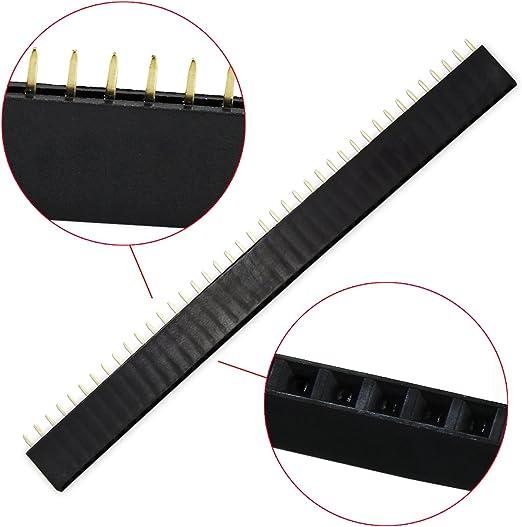 non-brand 90 Pieces 2.54mm Female Pin Header PCB Stiftleiste Buchsenleiste Sortiment f/ür Arduino