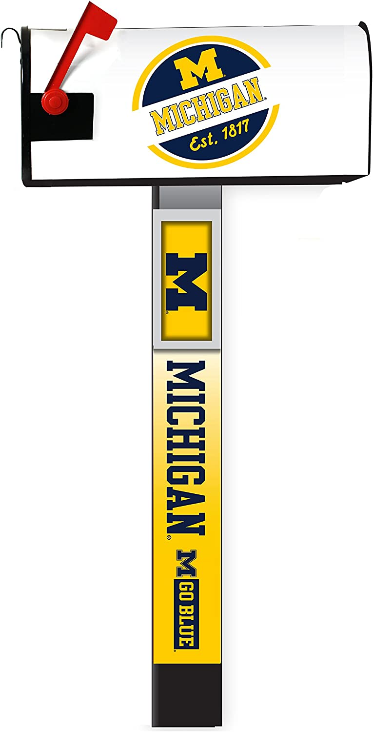 Michigan Wolverines Magnetic Mailbox Cover 2-Pack Mailbox Post Cover